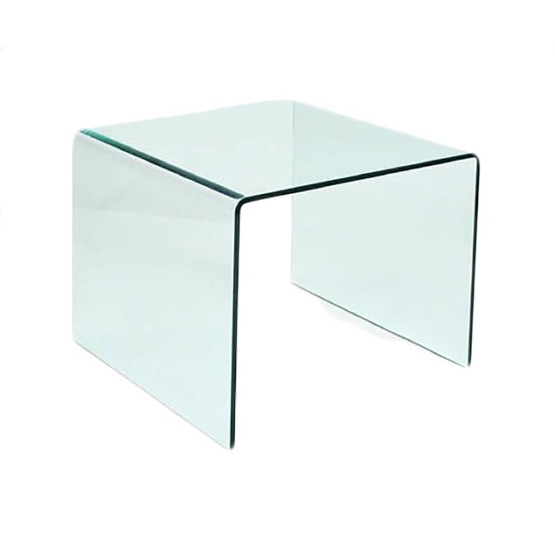 Mesita auxiliar de cristal curvado san pal - Mesa auxiliar cristal curvado ...