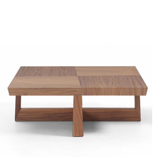 Mesa de centro de madera con cuadrante veteados san pal for Mesa cuadrada moderna