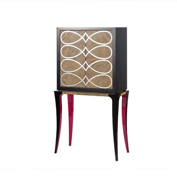 Mueble bar spiros lacado en alto brillo san pal for Mueble salon lacado alto brillo