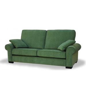 Sofá clásico con brazo redondeado