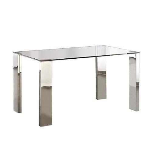 Mesa de comedor rectangular con patas de acero - San-Pal
