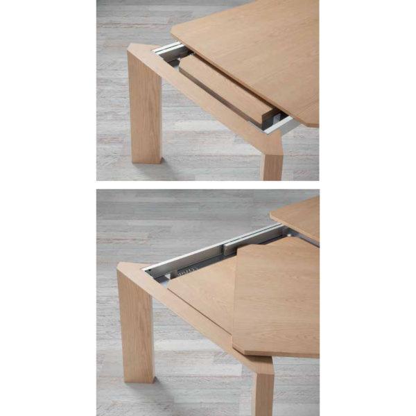 Mesa de comedor extensible de madera - San-Pal
