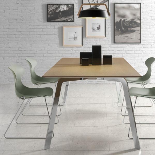 Mesa de comedor de diseño rectangular | San-Pal Tienda de decoración