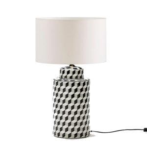 Lámpara de cerámica con dibujo geométrico