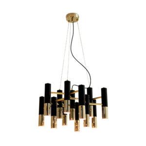 Lámpara Ike de Delightfull en dorado y negra