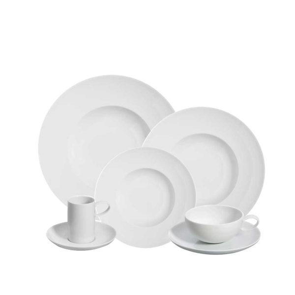 Domo blanca vajilla de porcelana de vista alegre san pal for Platos porcelana blanca