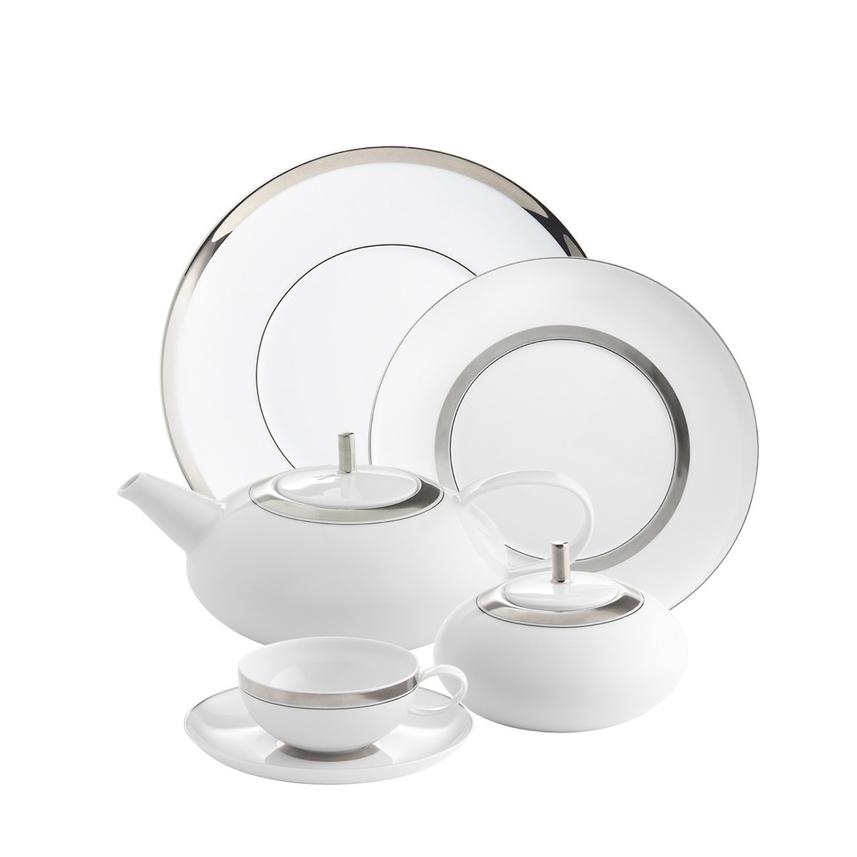 domo platino vajilla de porcelana blanca de vista alegre