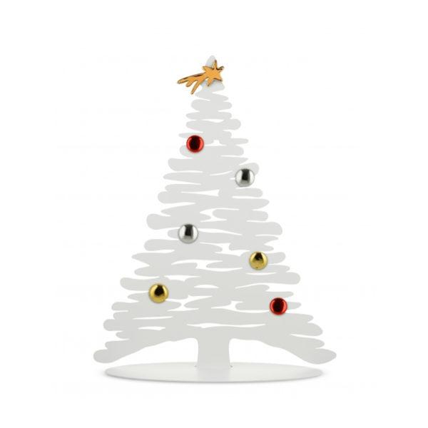 Rbol de navidad imantado blanco de alessi san pal - Arbol navideno blanco decorado ...