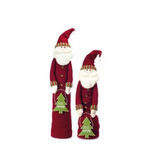 Papá Noel extensible en altura con abrigo granate