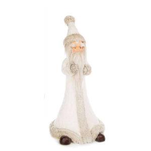 Papá Noel blanco grande con purpurina y zapatos marrones