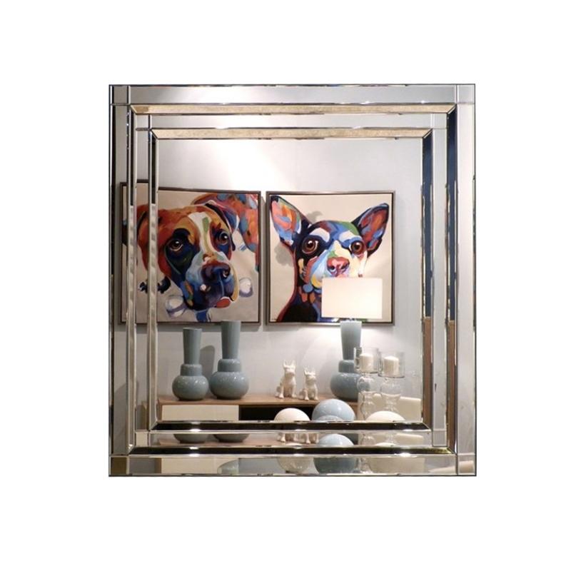 Espejo cuadrado con marco de espejo con cuadrados san pal for Espejo cuadrado sin marco