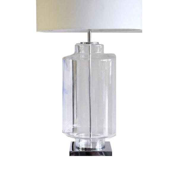 Lámpara de sobremesa con base de cristal