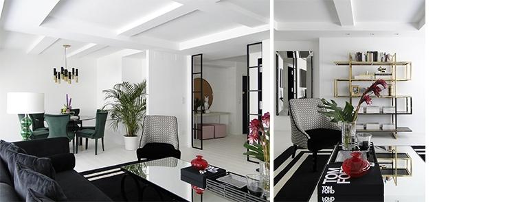Proyectos de interiorismo en Salamanca. Salón en blanco y negro