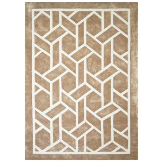 Alfombra hecha por encargo con dibujo ge metrico de for Alfombras dibujos geometricos
