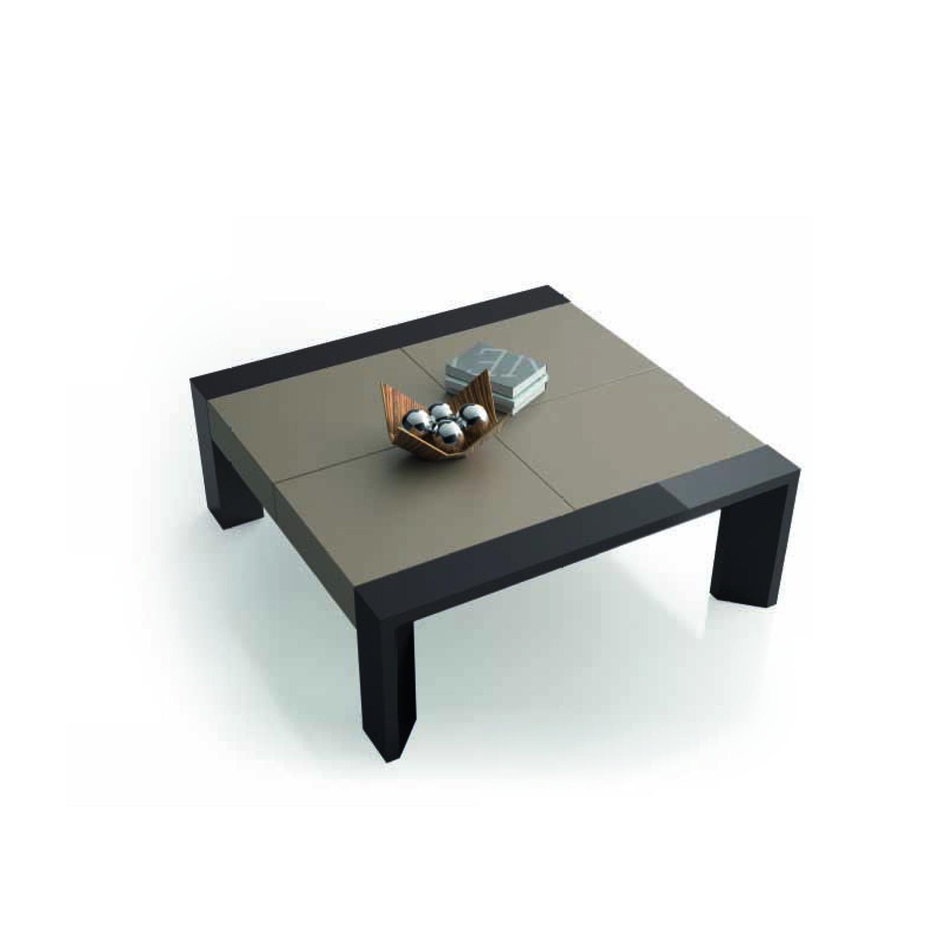 Mesa de centro cuadrada con lacas combinadas san pal for Centro reto salamanca recogida muebles