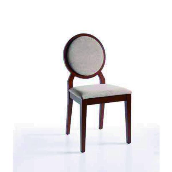 Silla con respaldo tapizado san pal for Sillas comedor respaldo bajo