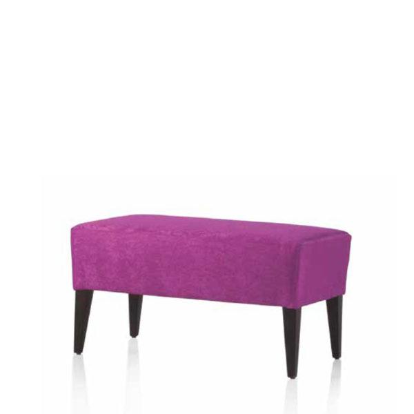Banqueta auxiliar tapizada con asiento liso
