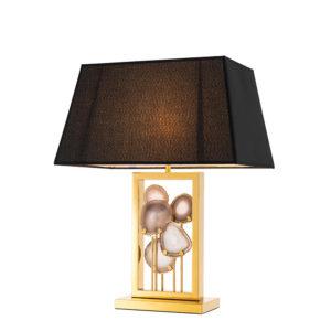 110541 Lámpara Margiela con ágata de Eichholtz