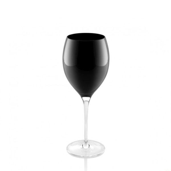 56572 Copa de vino de cristal negro