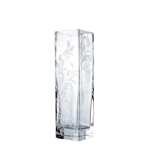 Florero de cristal con talla Marly de Christofle - San-Pal