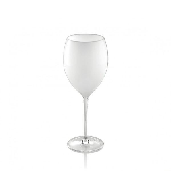 Copa de vino de cristal blanco