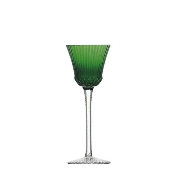 Copa Apollo de cristal verde oscuro de Saint Louis
