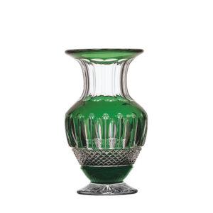 12445322 Jarrón Tommy de cristal verde de Saint Louis