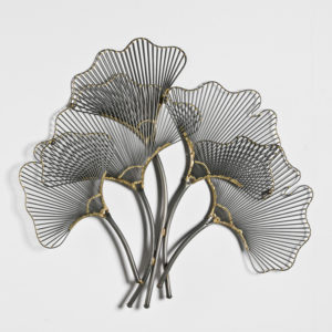 Escultura para pared con forma de flor
