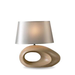 Lámpara con base efecto madera