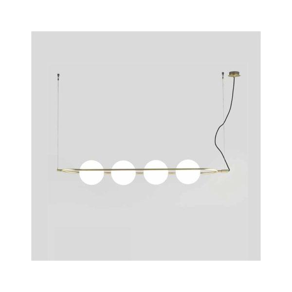 Lámpara de techo en oro mate con bolas de luz