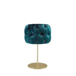 Lámpara de sobremesa de terciopelo verde