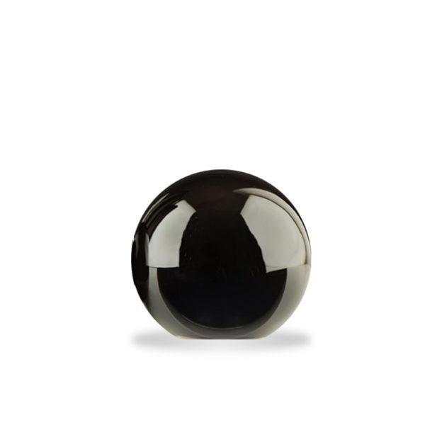 Bola decorativa de cerámica negra mediana