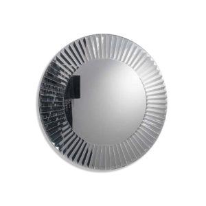 Espejo redondo con marco de cristales facetados