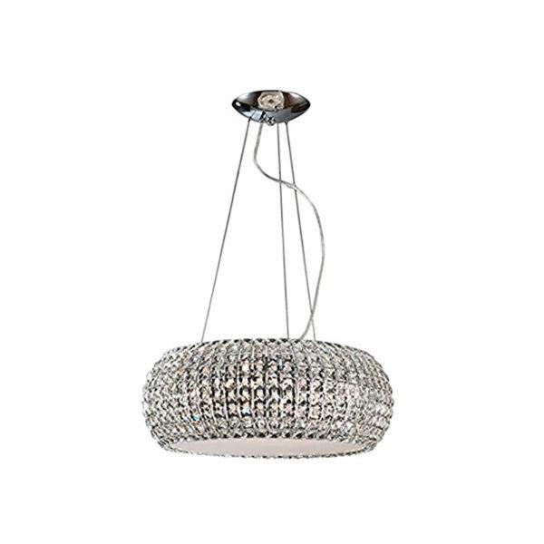 Lámpara de techo circular con cristalitos tallados