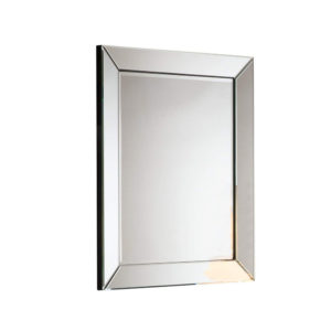Espejo rectangular con marco de espejo plano