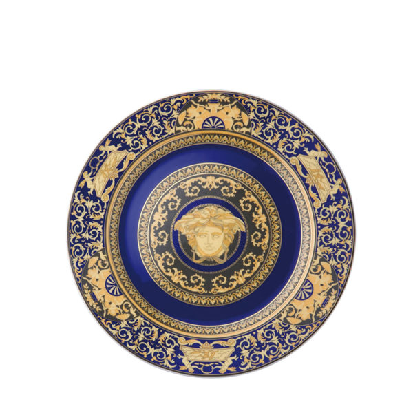 Wall plate Medusa Blue de Rosenthal Versace