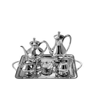 Juego de café Imperio de plata de Montejo