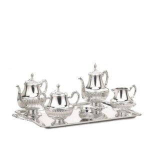 Juego de café Gallones de plata de Pedro Durán