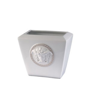 Florero Medusa Silver 18 de porcelana de Rosenthal Versace