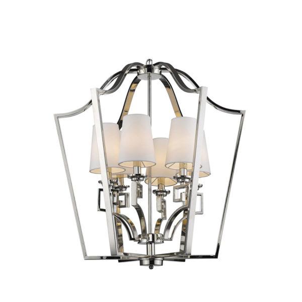 Farol cromado con 6 luces