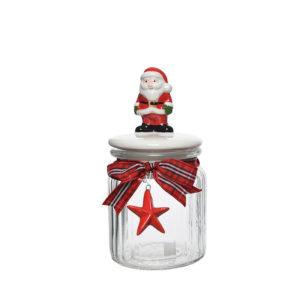 Bote hermético de cristal con Papá Noel