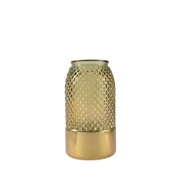 Jarrón de cristal dorado pequeño