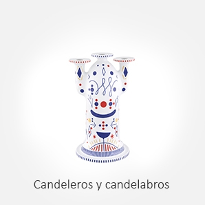 Velas, candeleros y candelabros