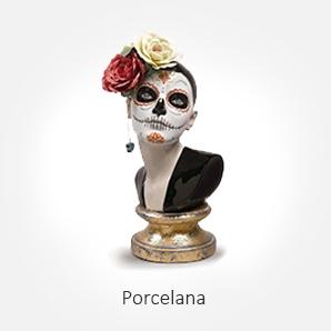 Objetos decorativos de porcelana