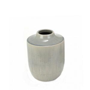 Florero de cerámica gris pequeño