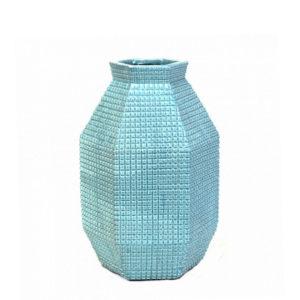 Cactus de cerámica aguamarina grande