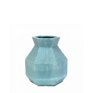 Cactus de cerámica aguamarina pequeño