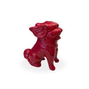 Dragón de cerámica fucsia