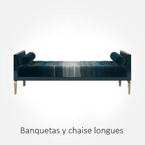 Selección de banquetas y chaise longues