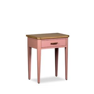 Mesa de noche de madera con 1 cajoncito